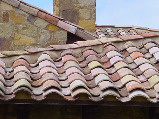French Antique Clay Roof Tiles Circa 1820 For Sale