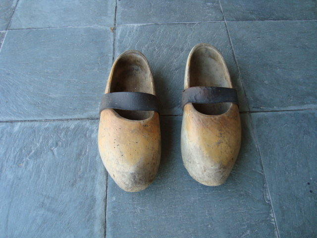 Authentic French Wooden Shoes Late 1800 S For Sale