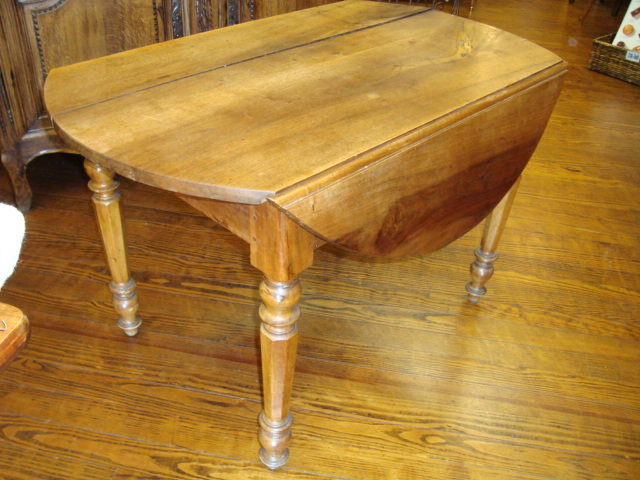 Exceptional Drop Leaf Tables For Sale Part - 3: Here Is French Louis Philippe Table With 2 Drop Leaves, Made Of Solid  Walnut Wood By A French Cabinet Maker In The Mid.1800u0027u0027s.