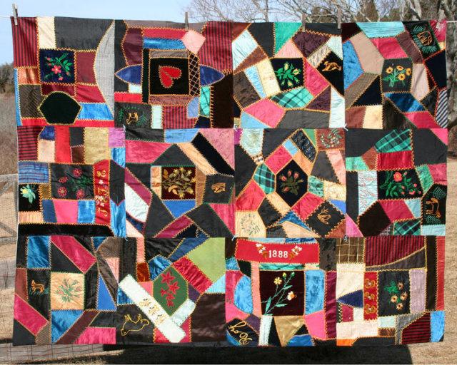 Silk Victorian Crazy Quilt For Sale | Antiques.com | Classifieds : quilts sale - Adamdwight.com