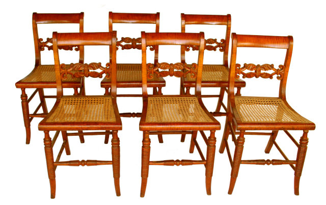 Tiger Maple Chairs For Sale | Antiques.com | Classifieds