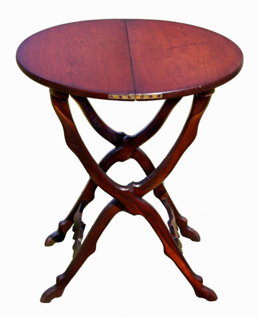 Antique Coffee Table With Folding Sides: Folding Table For Sale