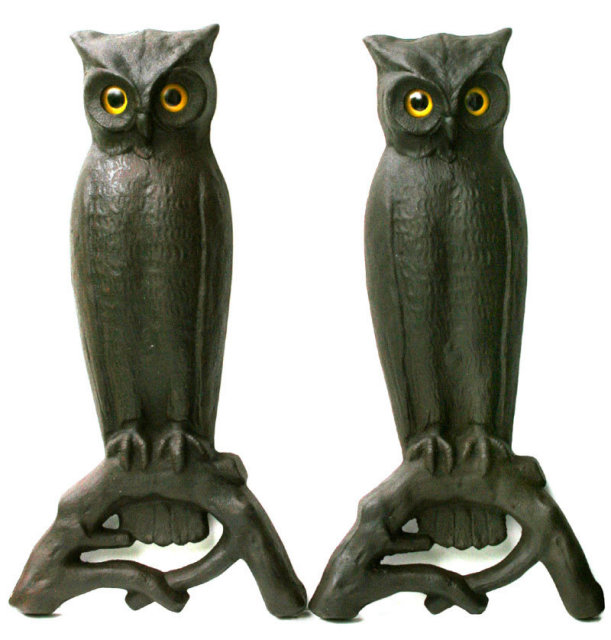 Owl Andirons For Sale Antiques Com Classifieds