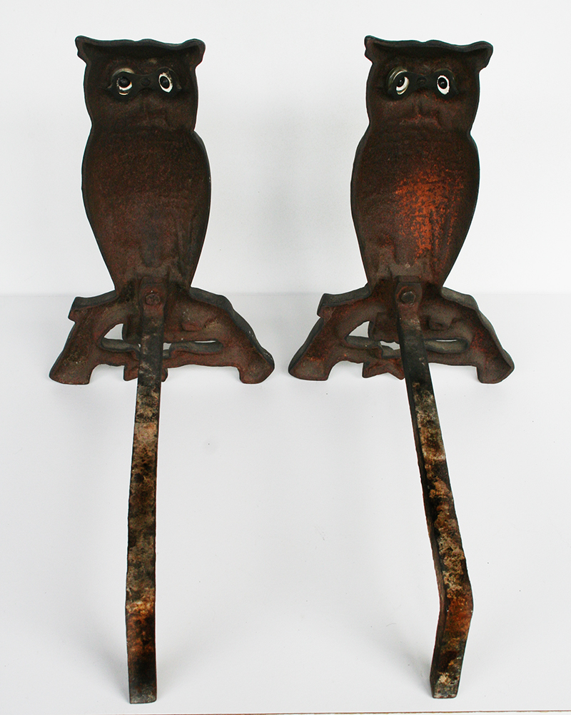 Owl Andirons 1305857 For Sale Antiques Com Classifieds