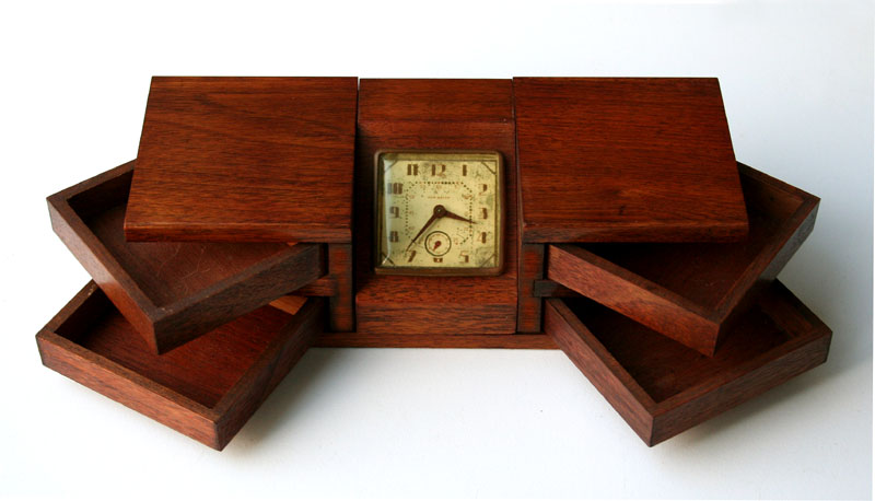 Desk Box With Clock For Sale Antiques Com Classifieds