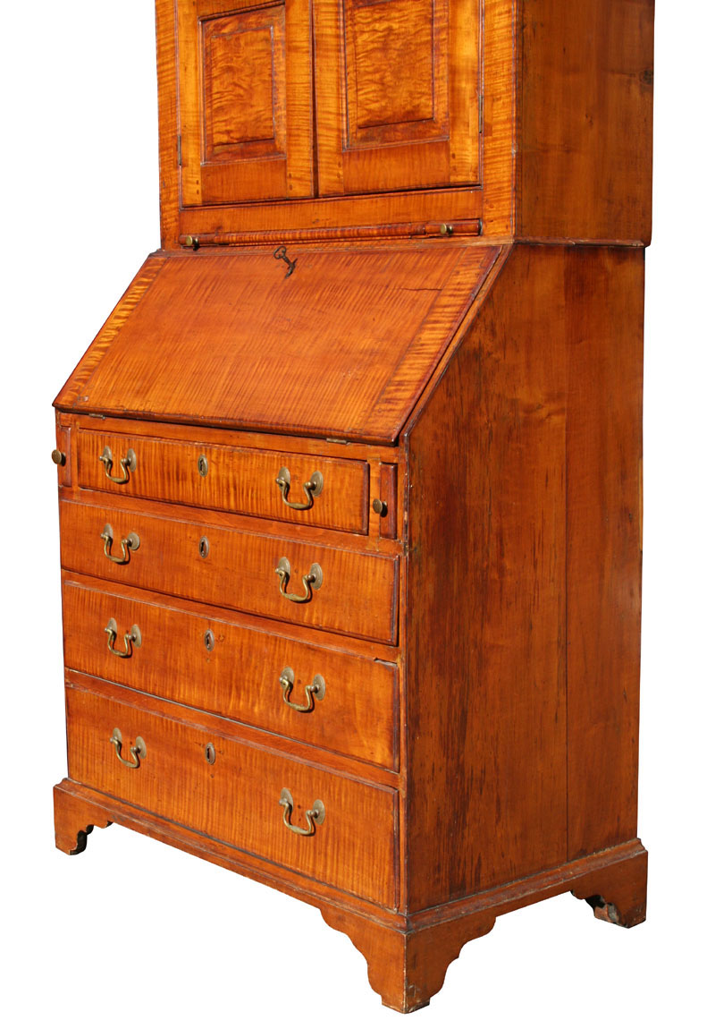 Tiger Maple Desk For Sale Antiques Com Classifieds