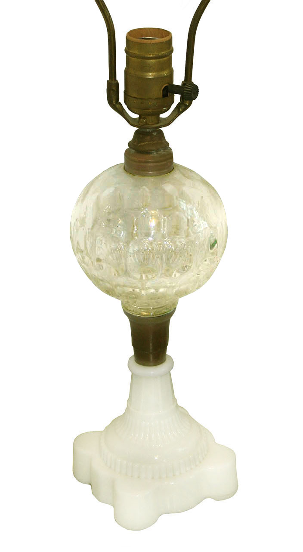 sandwich glass lamp for sale classifieds. Black Bedroom Furniture Sets. Home Design Ideas
