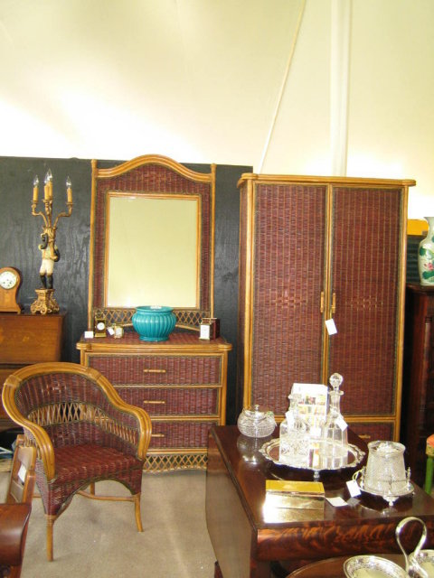 Complete 5 Piece Wicker Bedroom Set For Sale Antiques