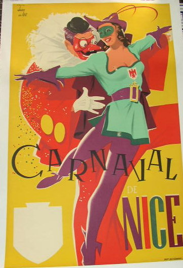 1955 French Carnival Poster For Sale Antiques Com