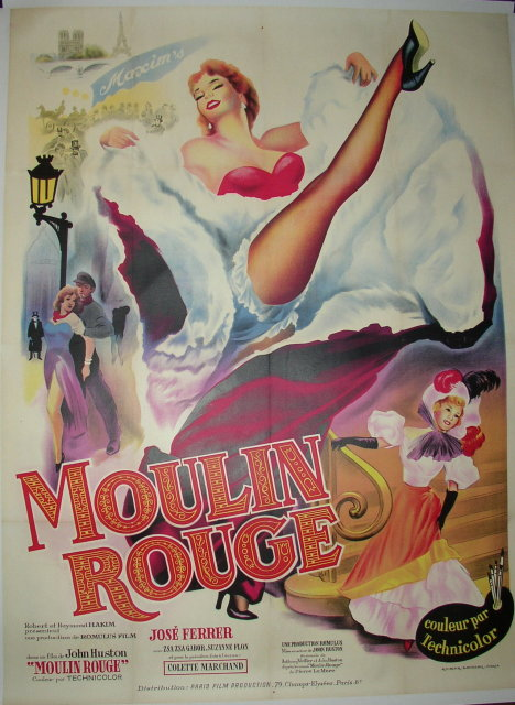 Moulin Rouge - Original Vintage Movie Poster For Sale ...