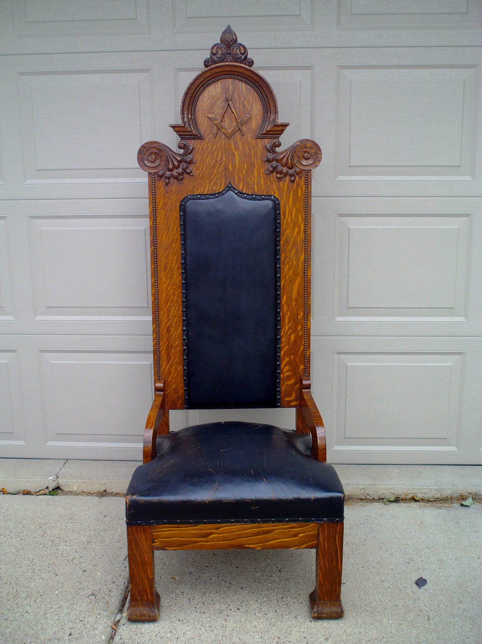 Antique Gothic Ornate Carved Oak Masonic Chair For Sale | Antiques.com |  Classifieds - Antique Gothic Ornate Carved Oak Masonic Chair For Sale Antiques