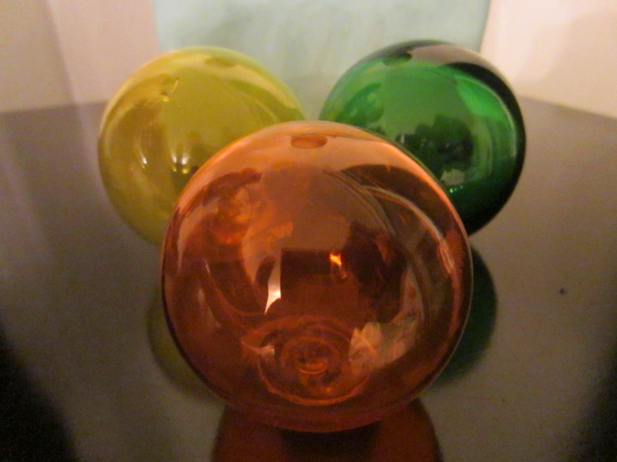 Glass buoy floating colored balls for sale antiques