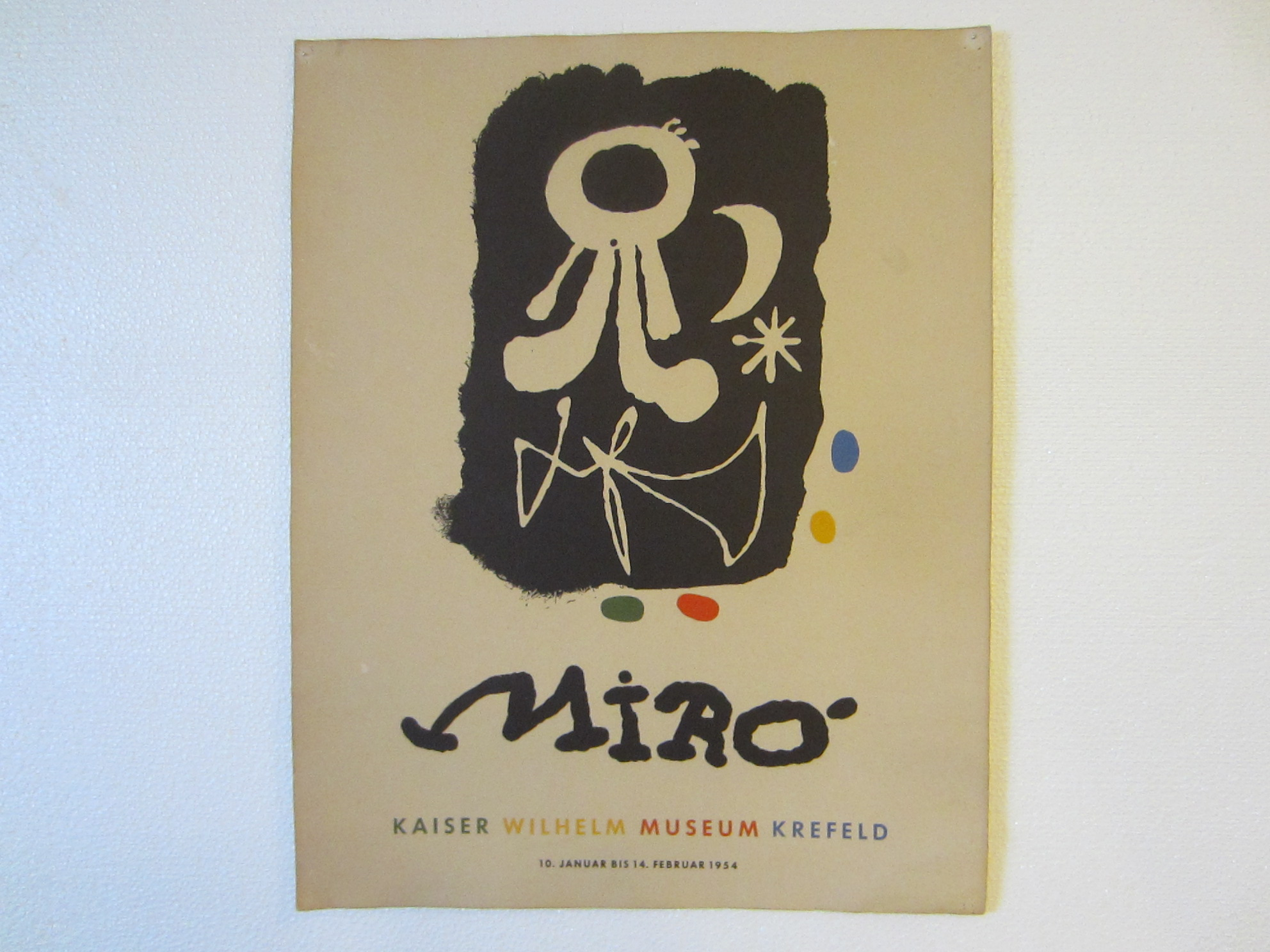 Joan miro exhibition poster abstract mid century museum for Abstract posters for sale