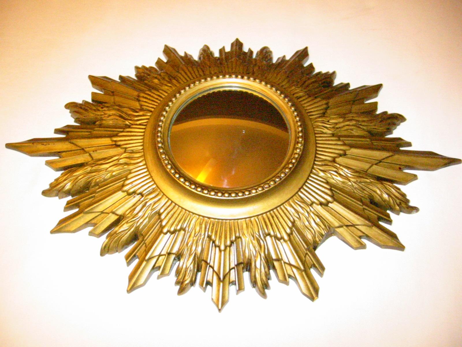 Sunburst Composition Art Deco Mirror For
