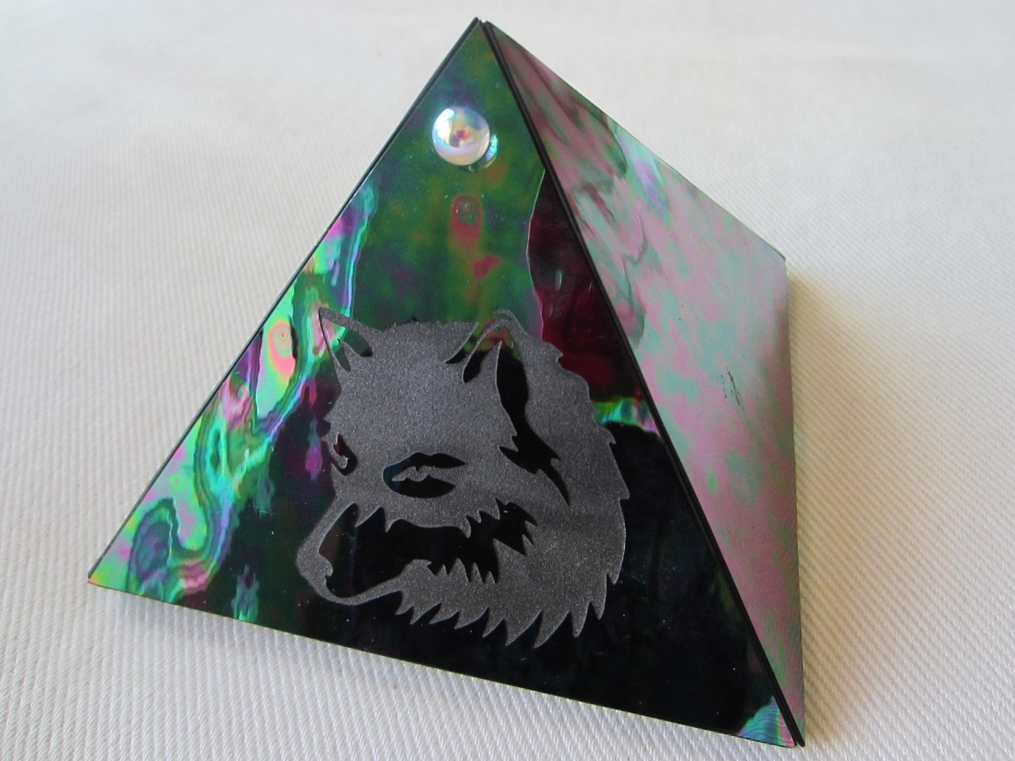 Kheops International Glass Pyramid Trinket Box For Sale