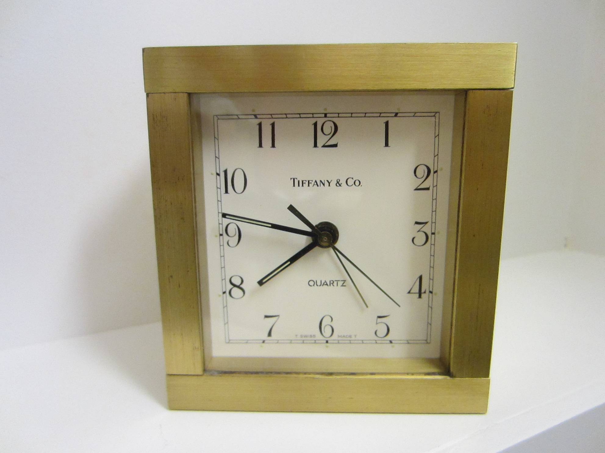 Solid Brass Co Swiss Quartz Desk Clock For