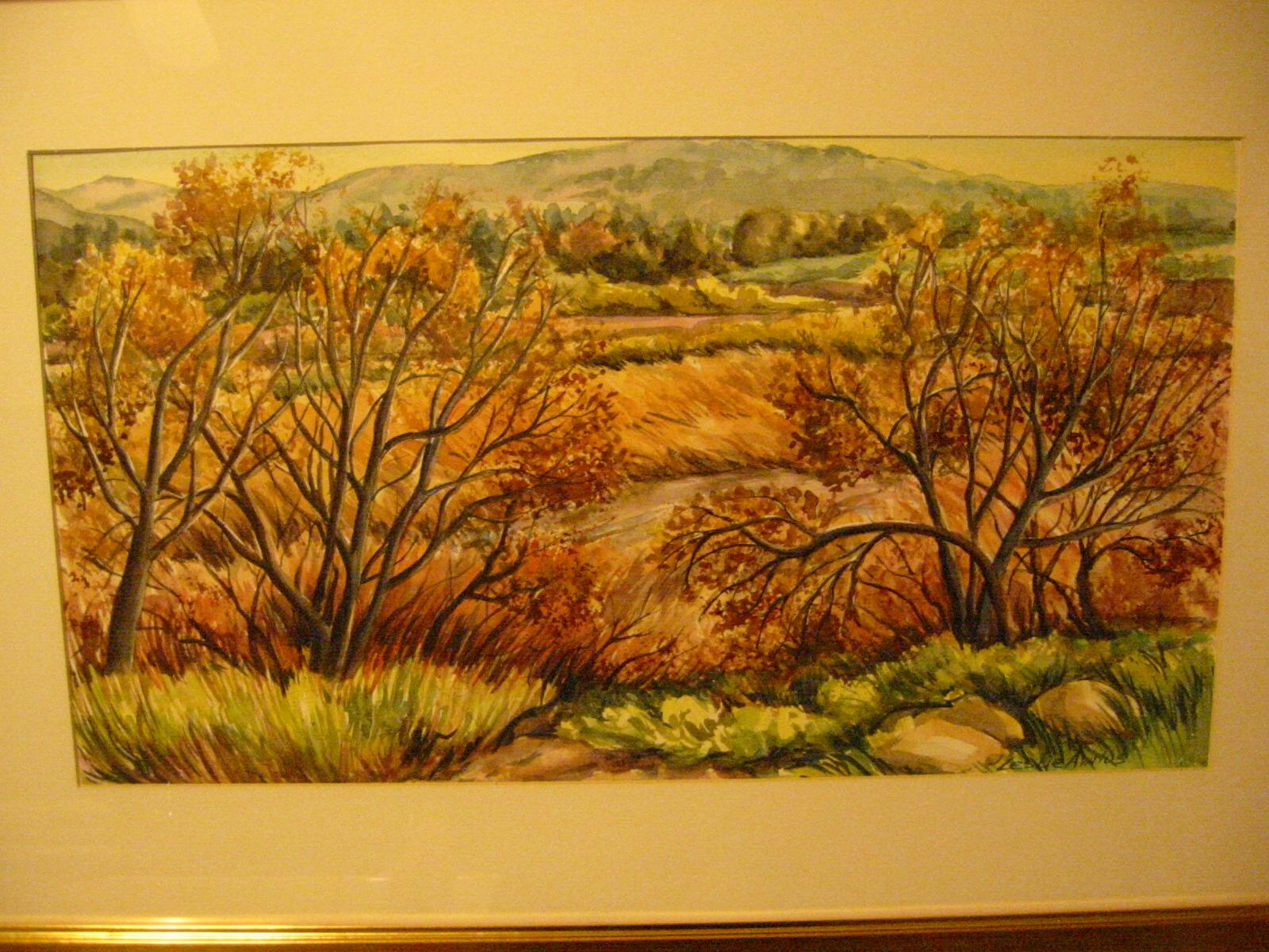 Modern california watercolor landscape signed leslie for Famous prints for sale