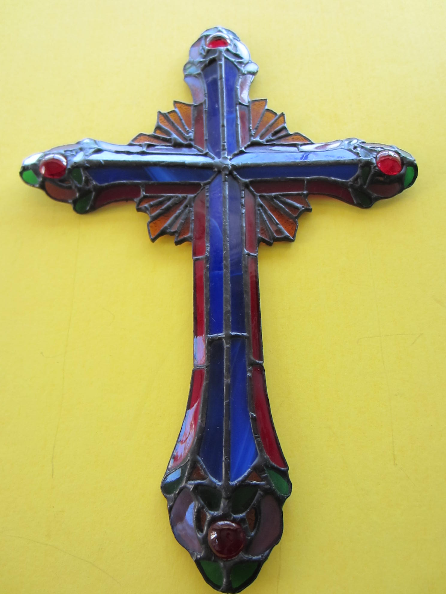 Ray Of Hope Stained Glass Cross By The Franklin Mint For