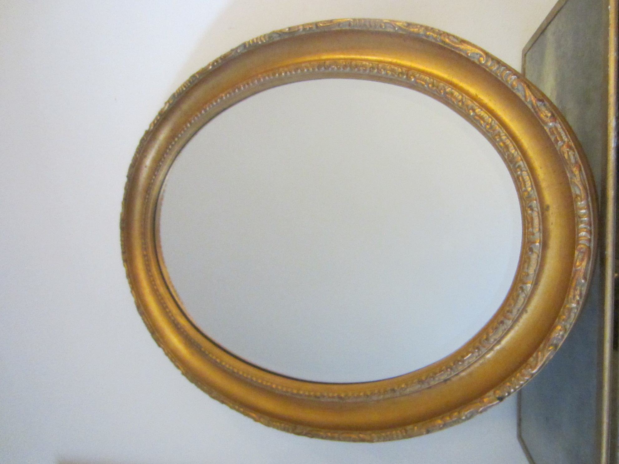Is Of Wood With Beautiful Gilding Fl Ornamentation This Gorgeous Large Wall Beveled Mirror Label Verso The Aged Heavy