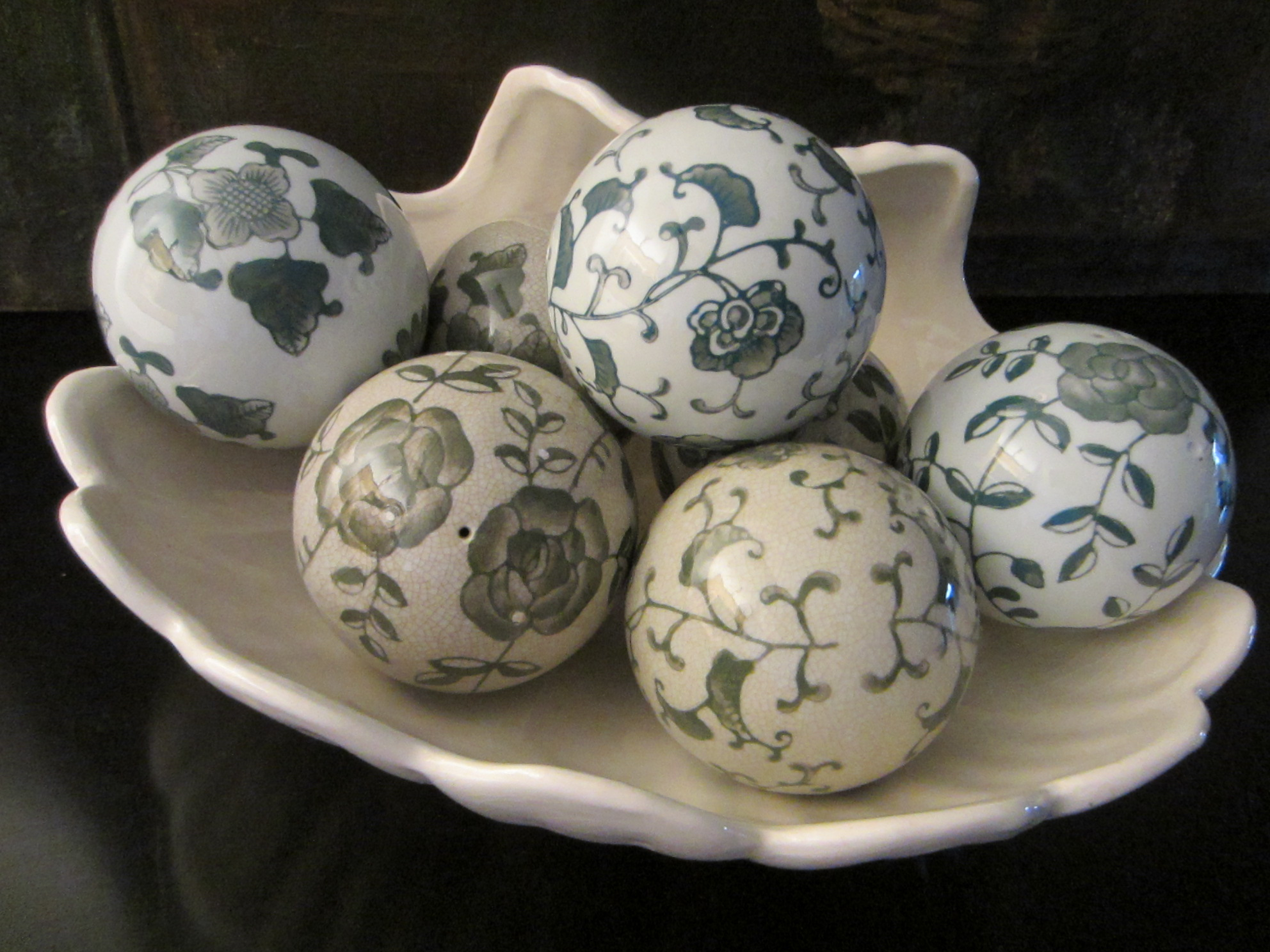 Modernist ceramic decorative balls for sale antiques