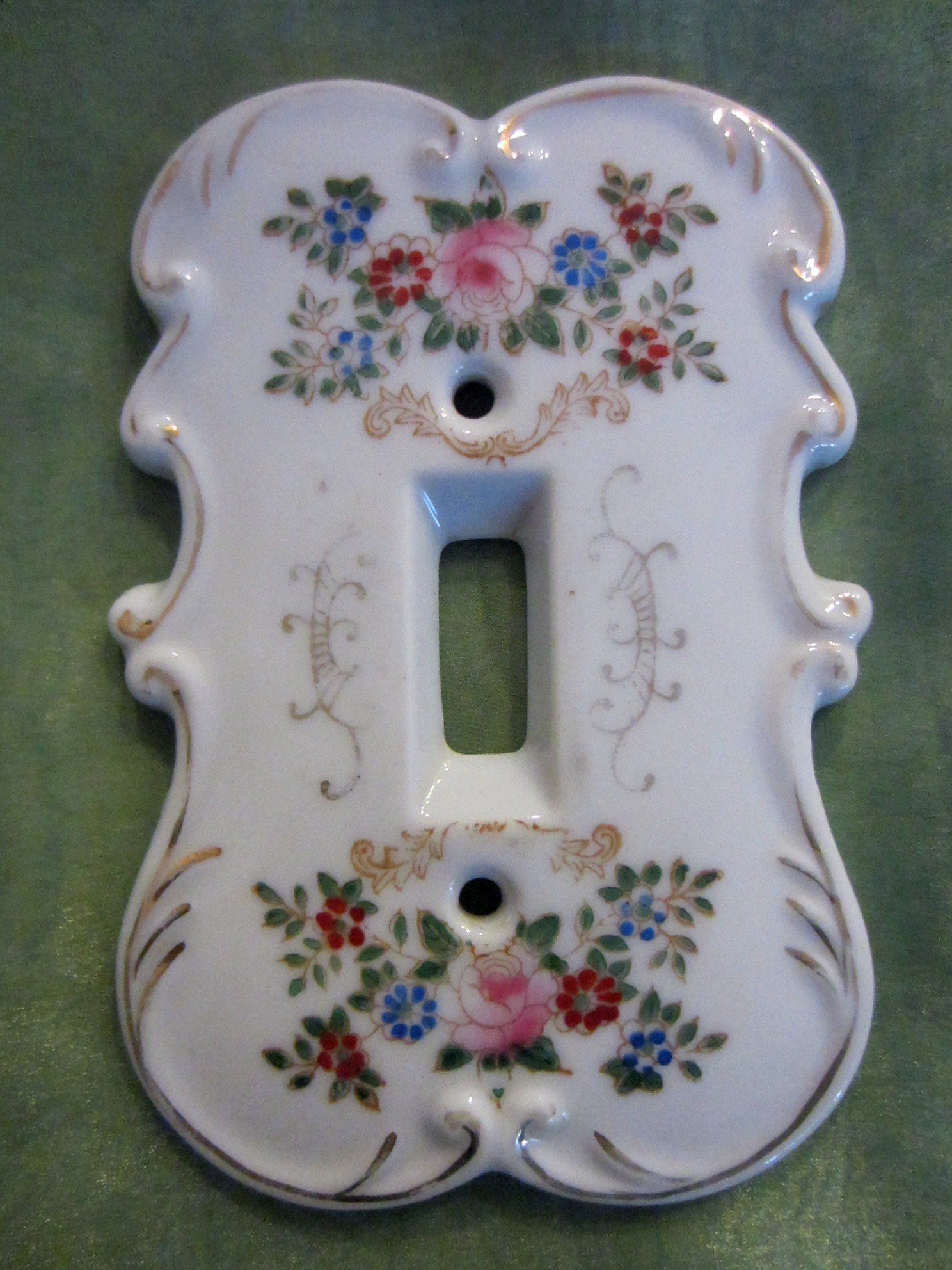 Hand Painted Plates : Arnart creation japan porcelain hand painted switch plates