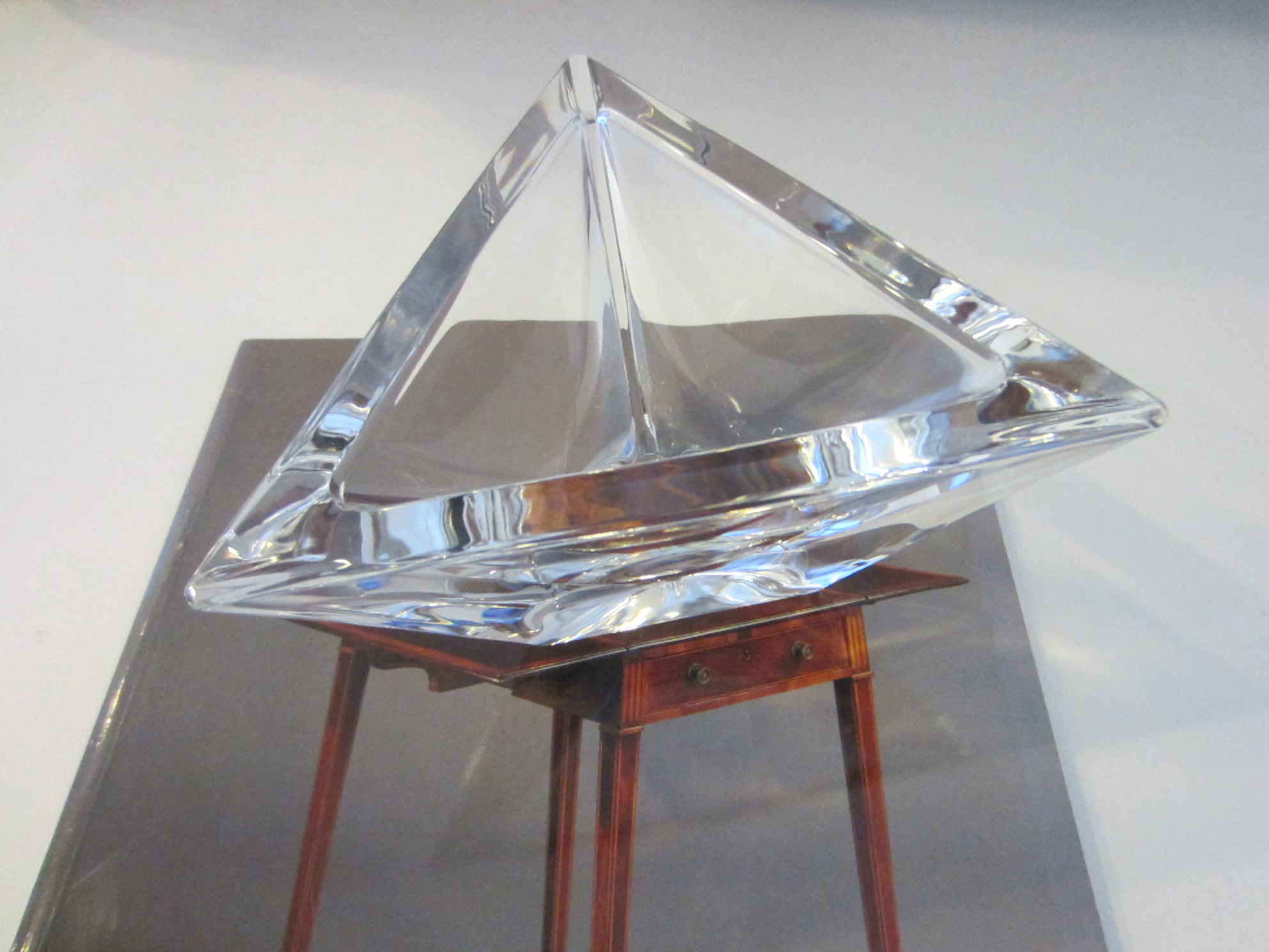 orrefors hand cut triangle crystal bowl for sale antiques com