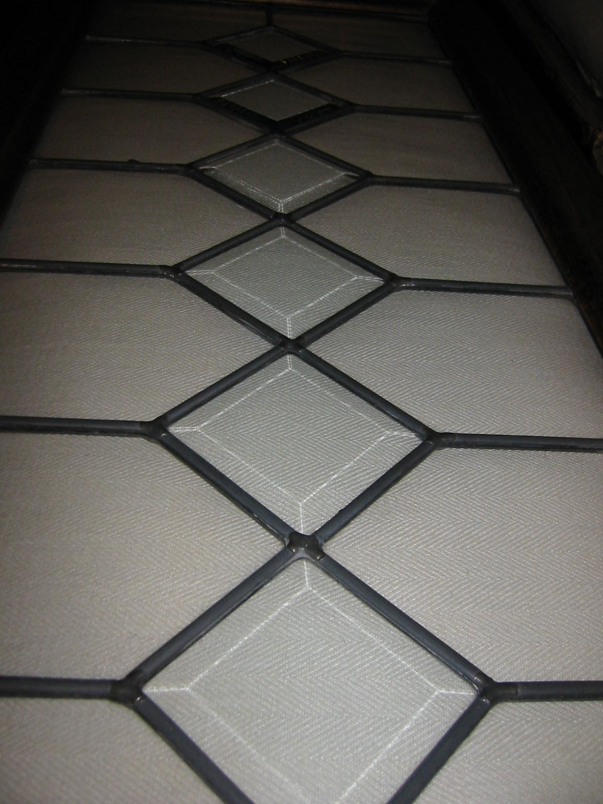 Stained Glass Beveled Window Wood Panel For Sale