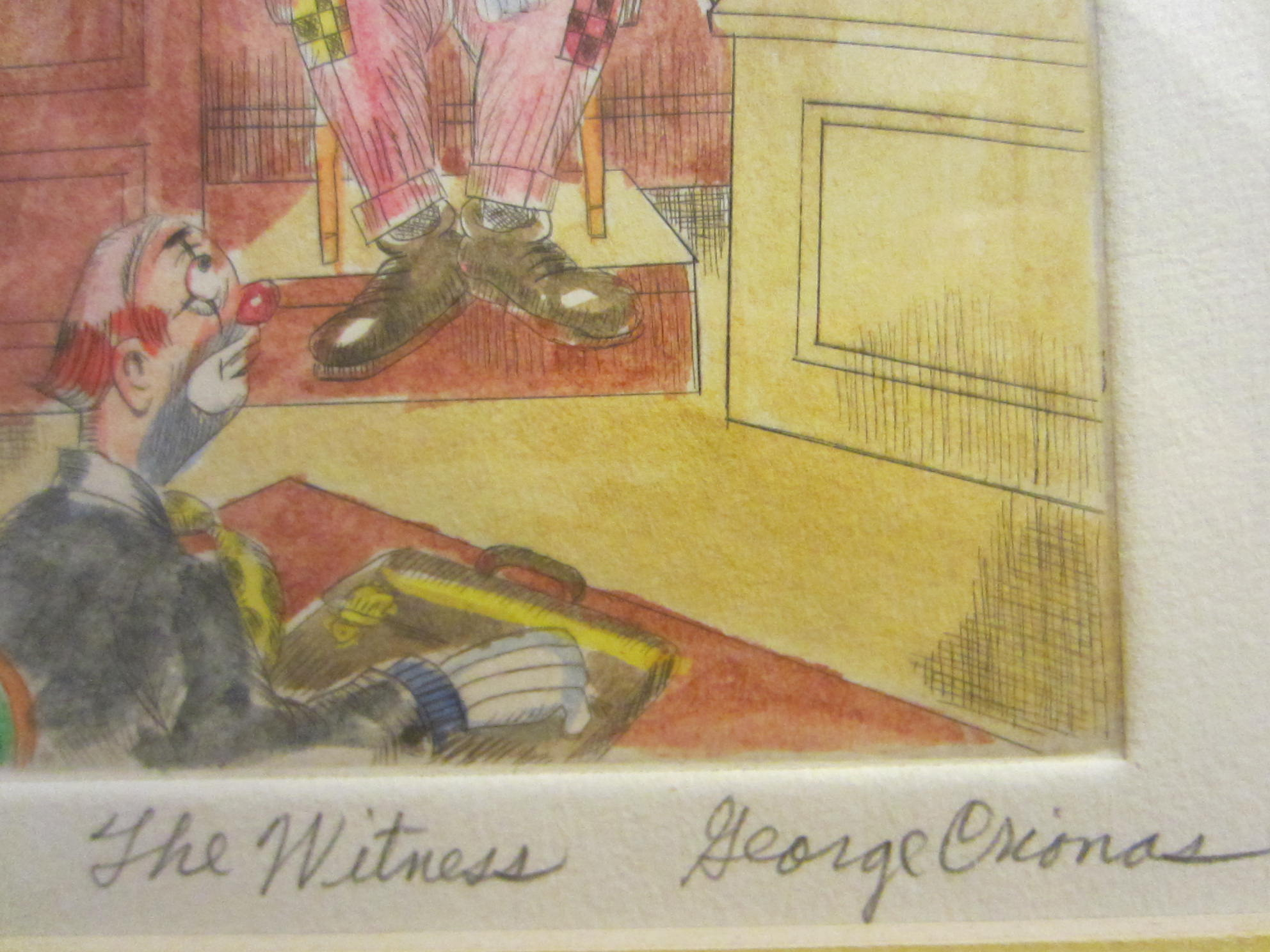 George Crionas The Witness Limited Edition Lithograph