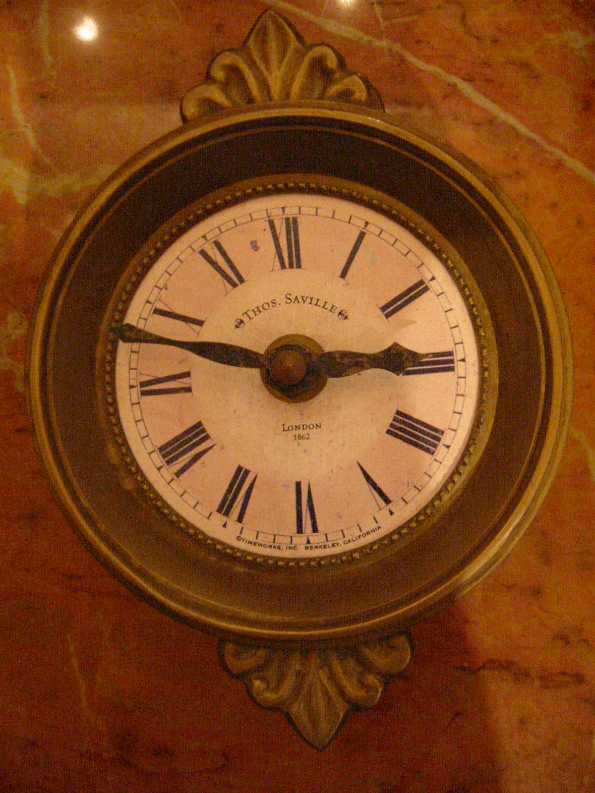 Thos saville london style brass pendulum wall clock for for Antique wall clock for sale