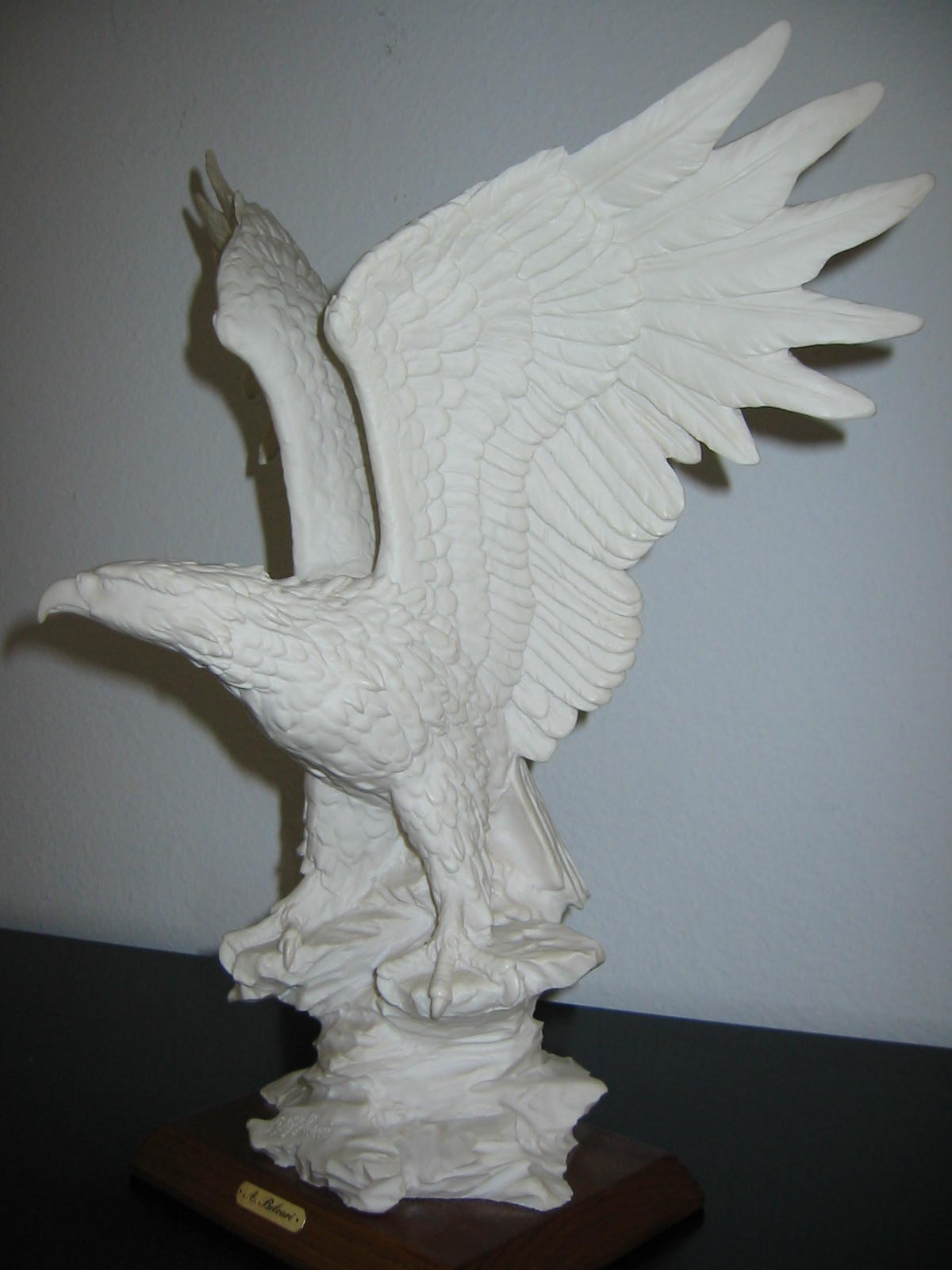 a belcari bald eagle sculpture signed by artist for sale