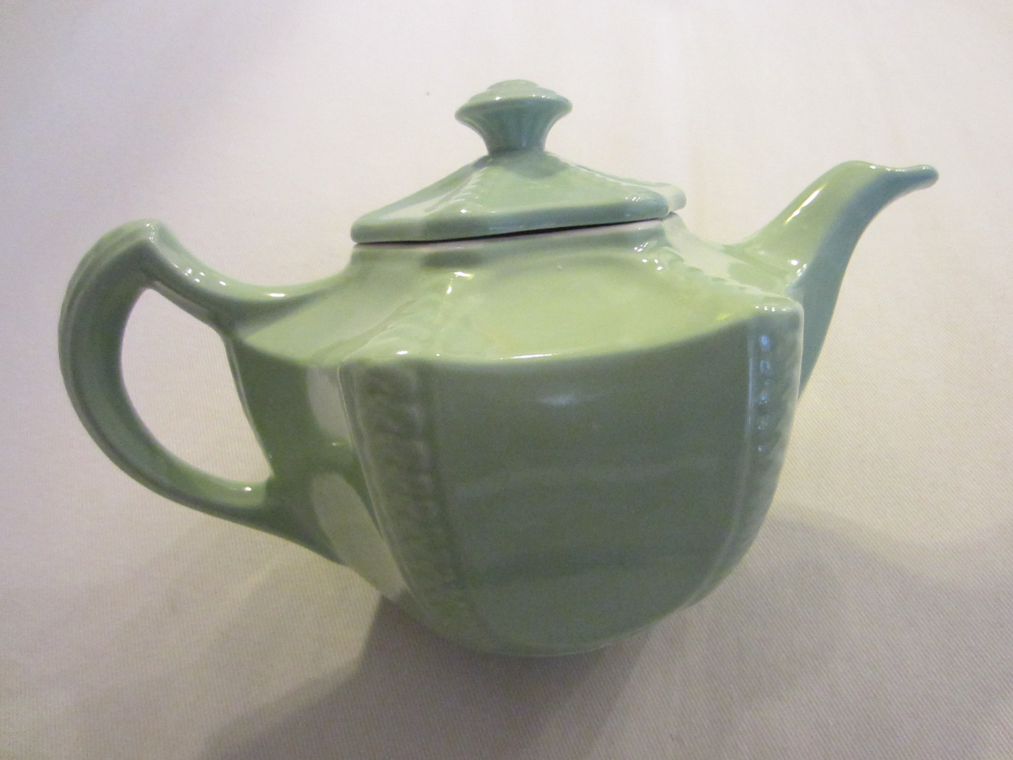 Hall Mint Green Teapot Connie Victorian Vintage Pottery