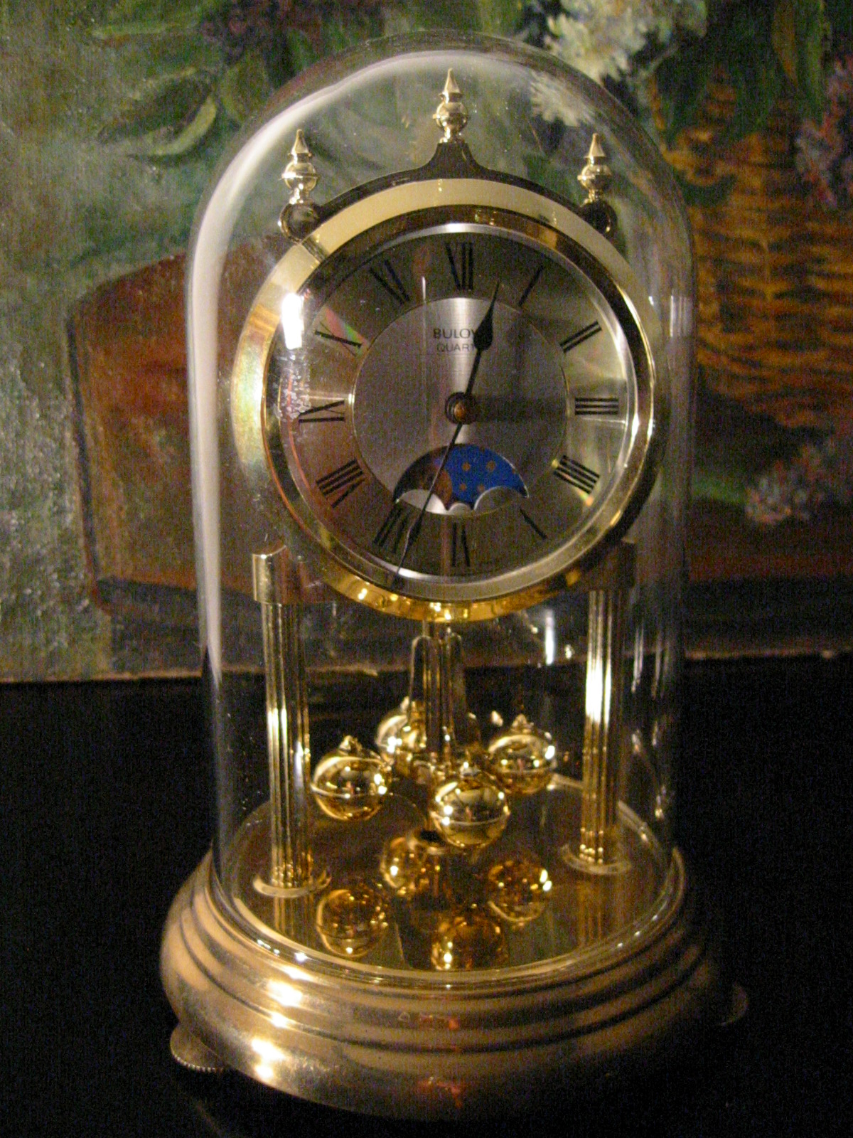 bulova moon face anniversary clock from w germany for sale antiquescom classifieds - Anniversary Clock