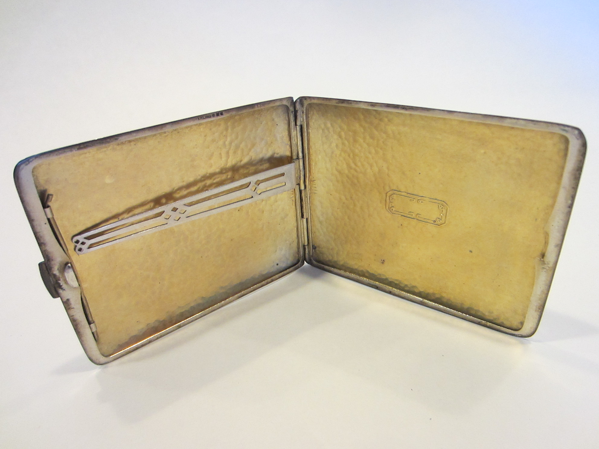 Monogrammed Silver Hammered Case With Hallmarks For Sale | Antiques ...