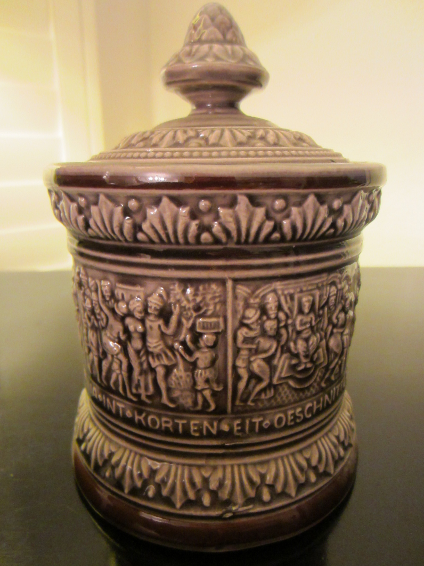 Germany Figurative Ceramic Cracker Jar For Sale | Antiques ...
