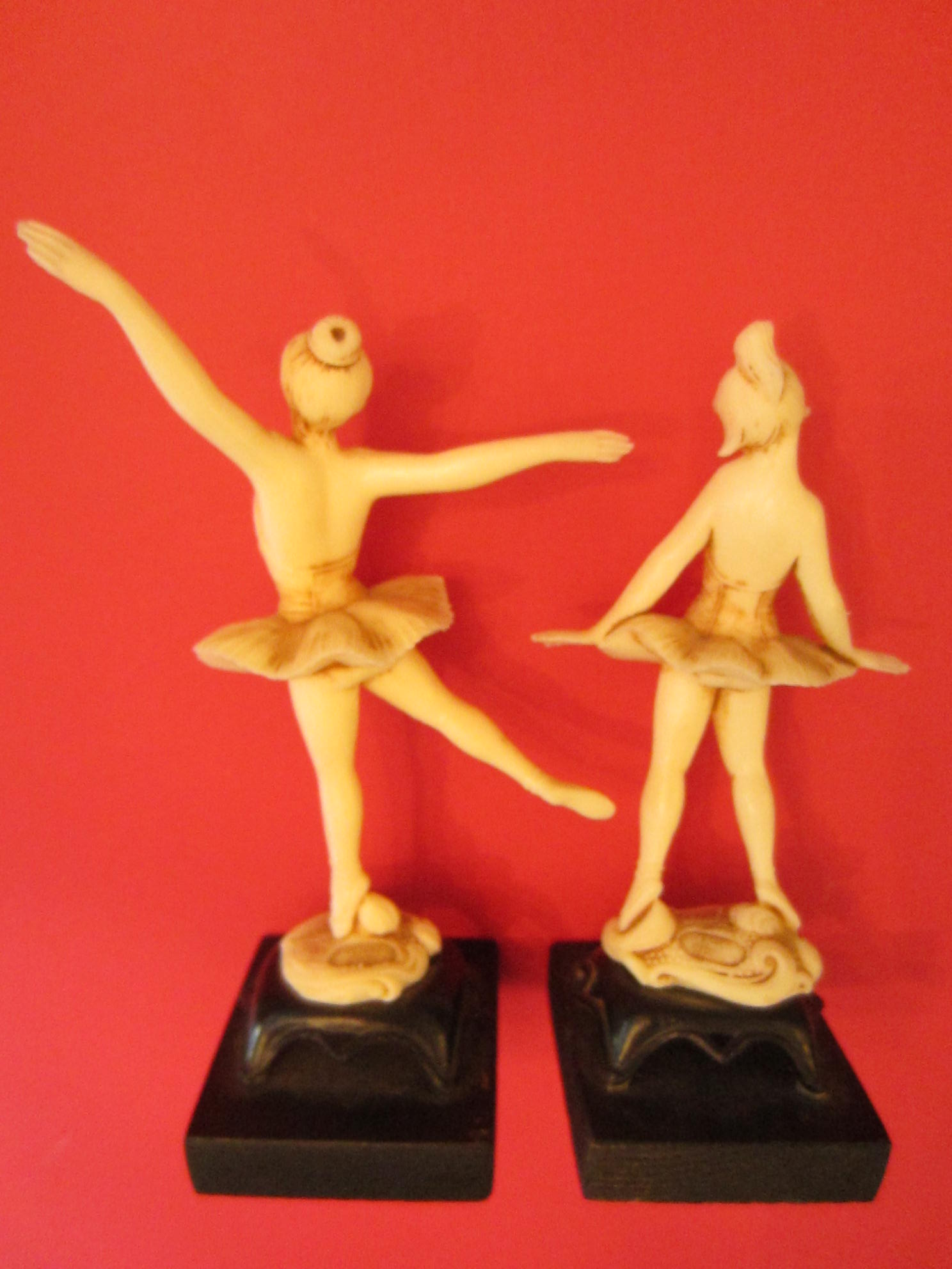 compsition resin wood art deco ballerina dancers for sale classifieds. Black Bedroom Furniture Sets. Home Design Ideas