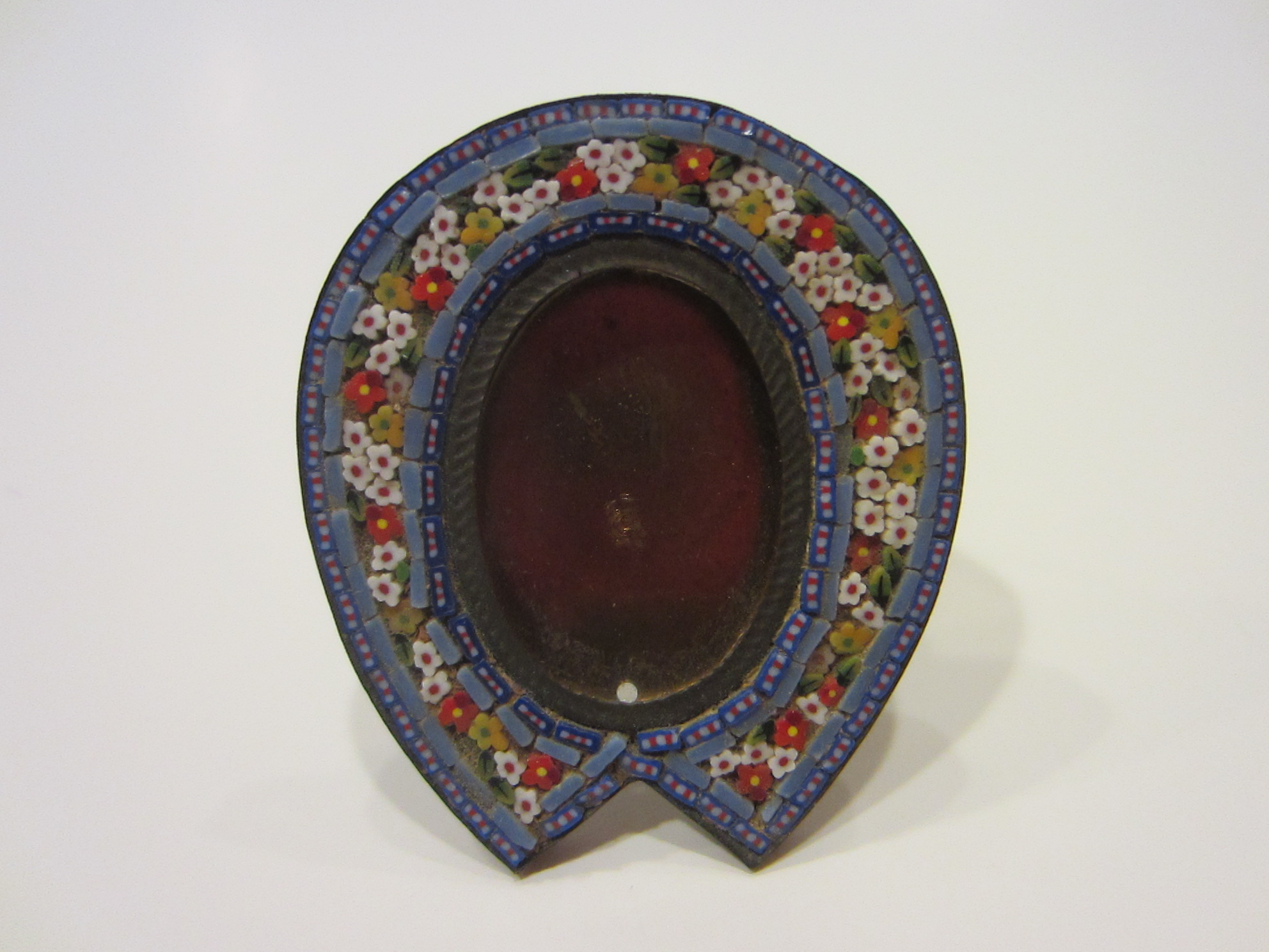 Micro Mosaic Horseshoe Miniature Photo Frame Made in Italy For Sale ...