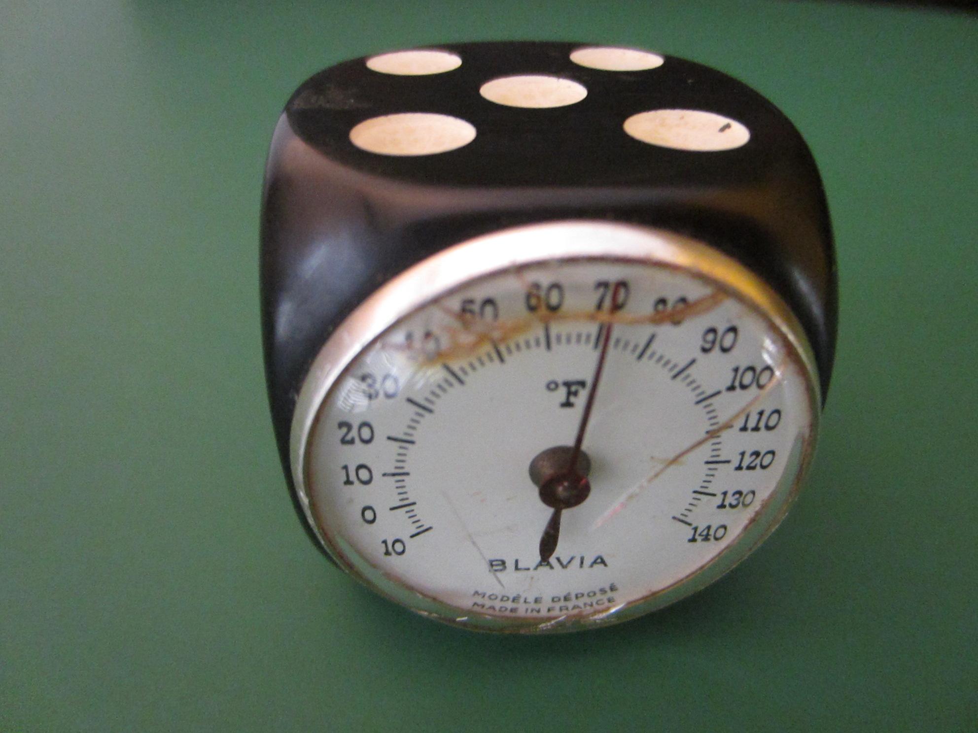 France Blavia Modele Depose Dice Thermometer For Sale