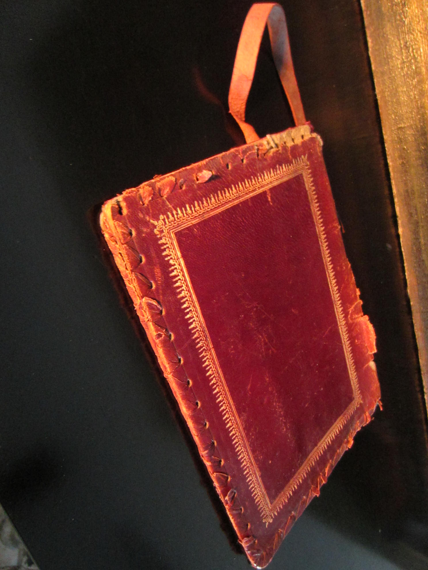 Old Book Covers For Sale ~ Made in italy red leather emboss book cover for sale