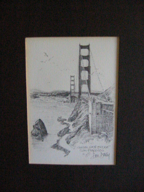 Don Davey San Francisco Golden Gate Bridge For Sale