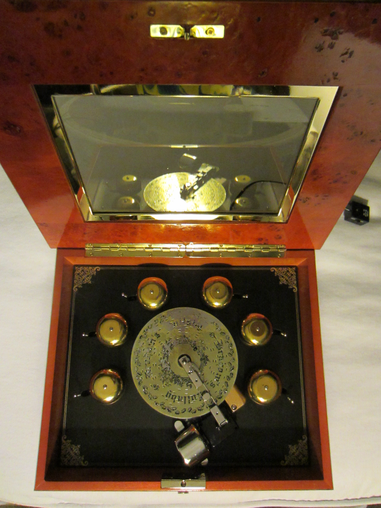 Mr. Christmas Burl Wood Music Box For Sale | Antiques.com ...