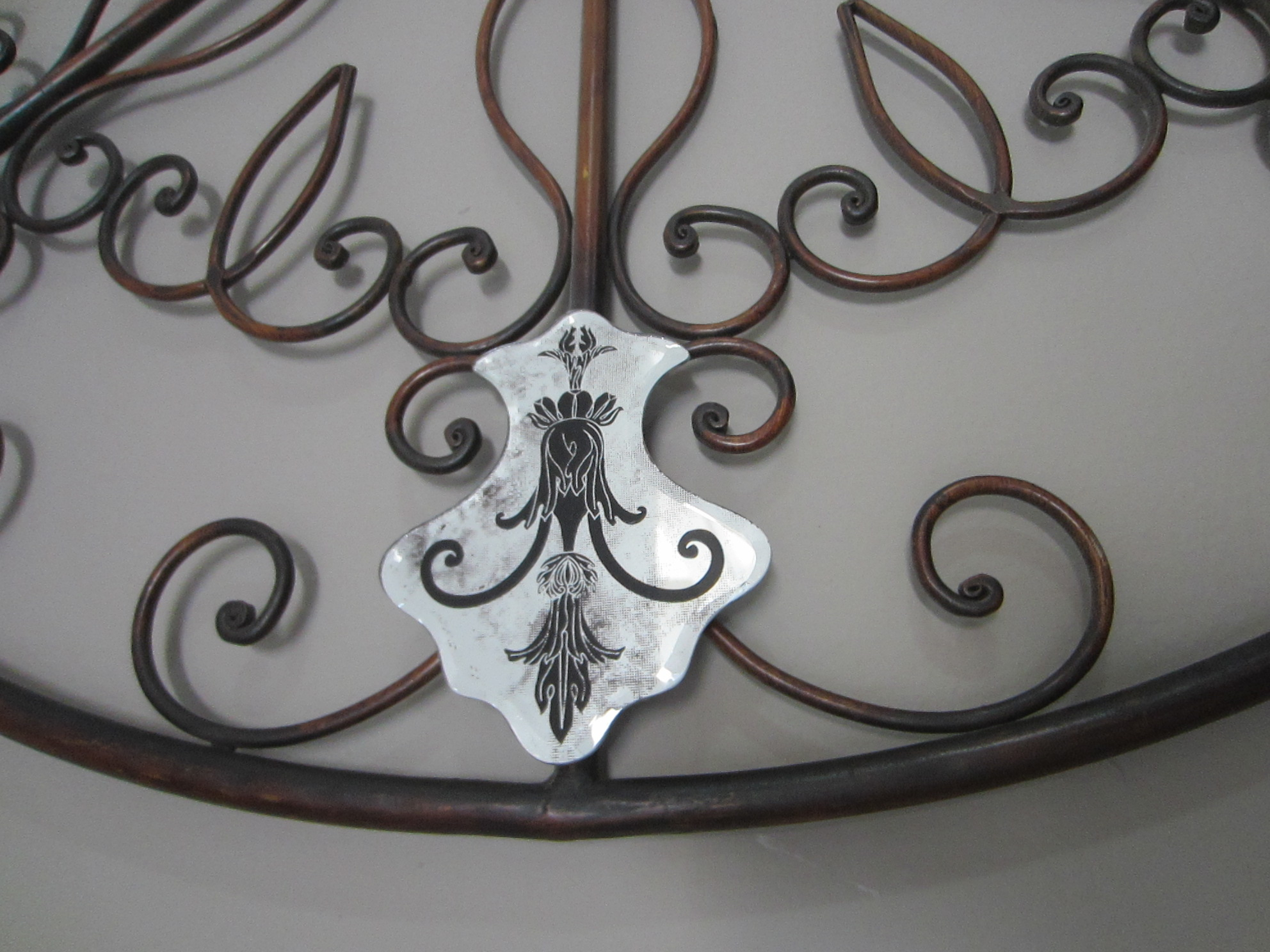Round Black Wall Decor : Modernist mirrored round metal wall decor decorative black
