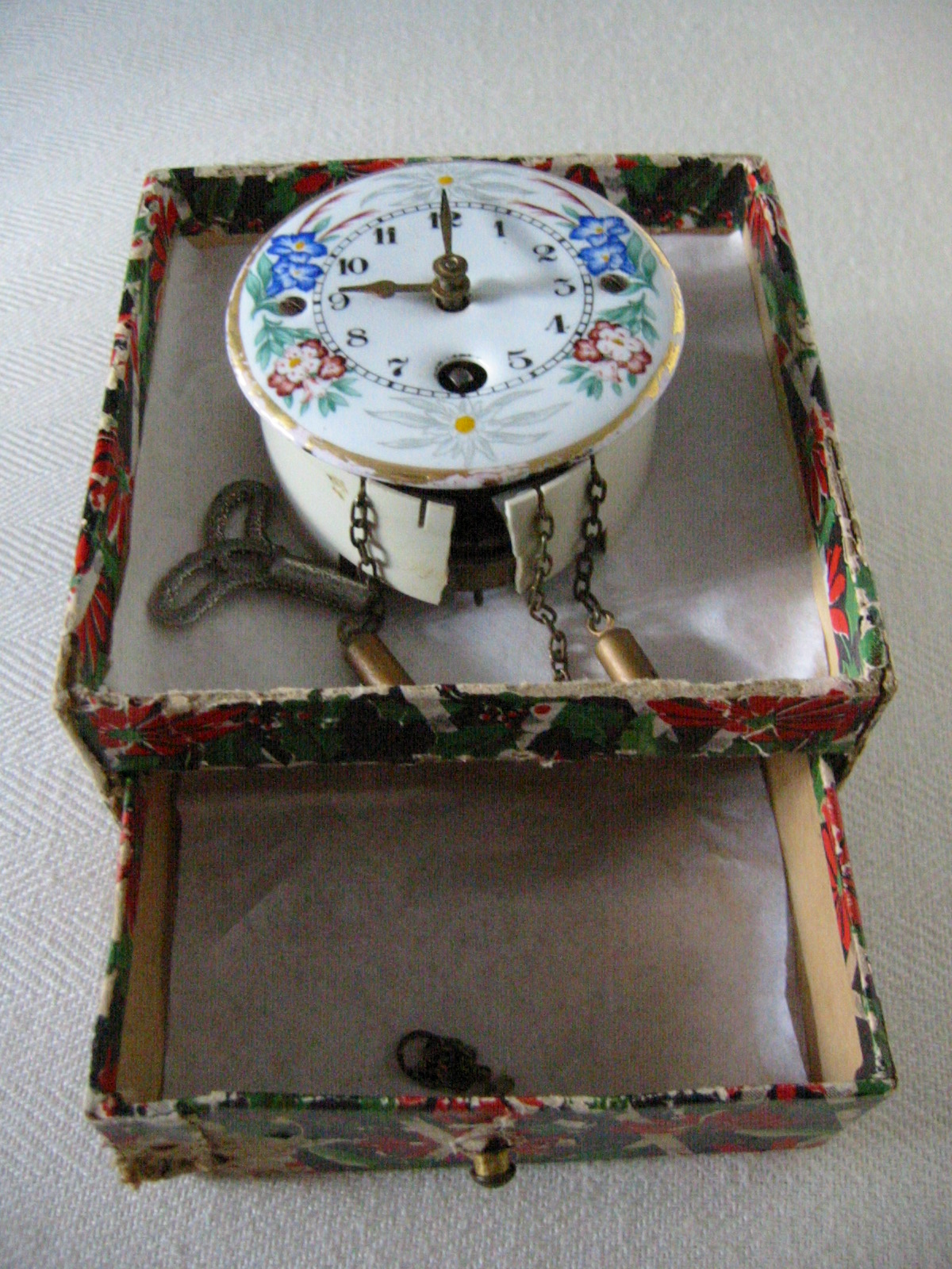 Germany J Engstler Porcelain Wall Clock For Sale ...