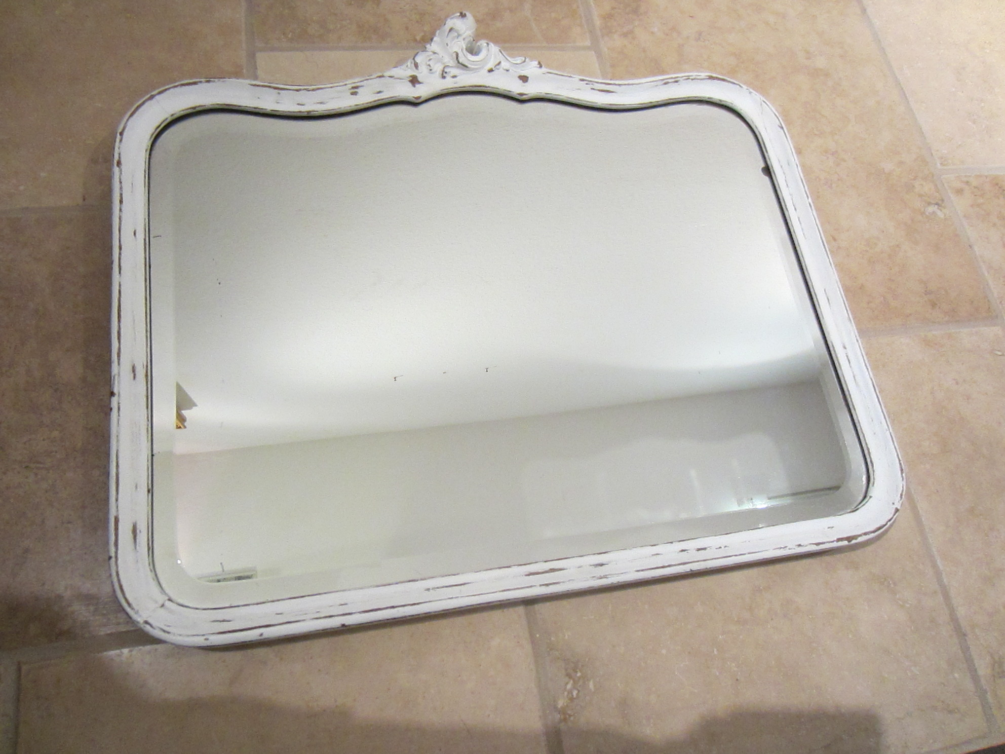 Art deco white wood mirror for sale for White framed mirrors for sale