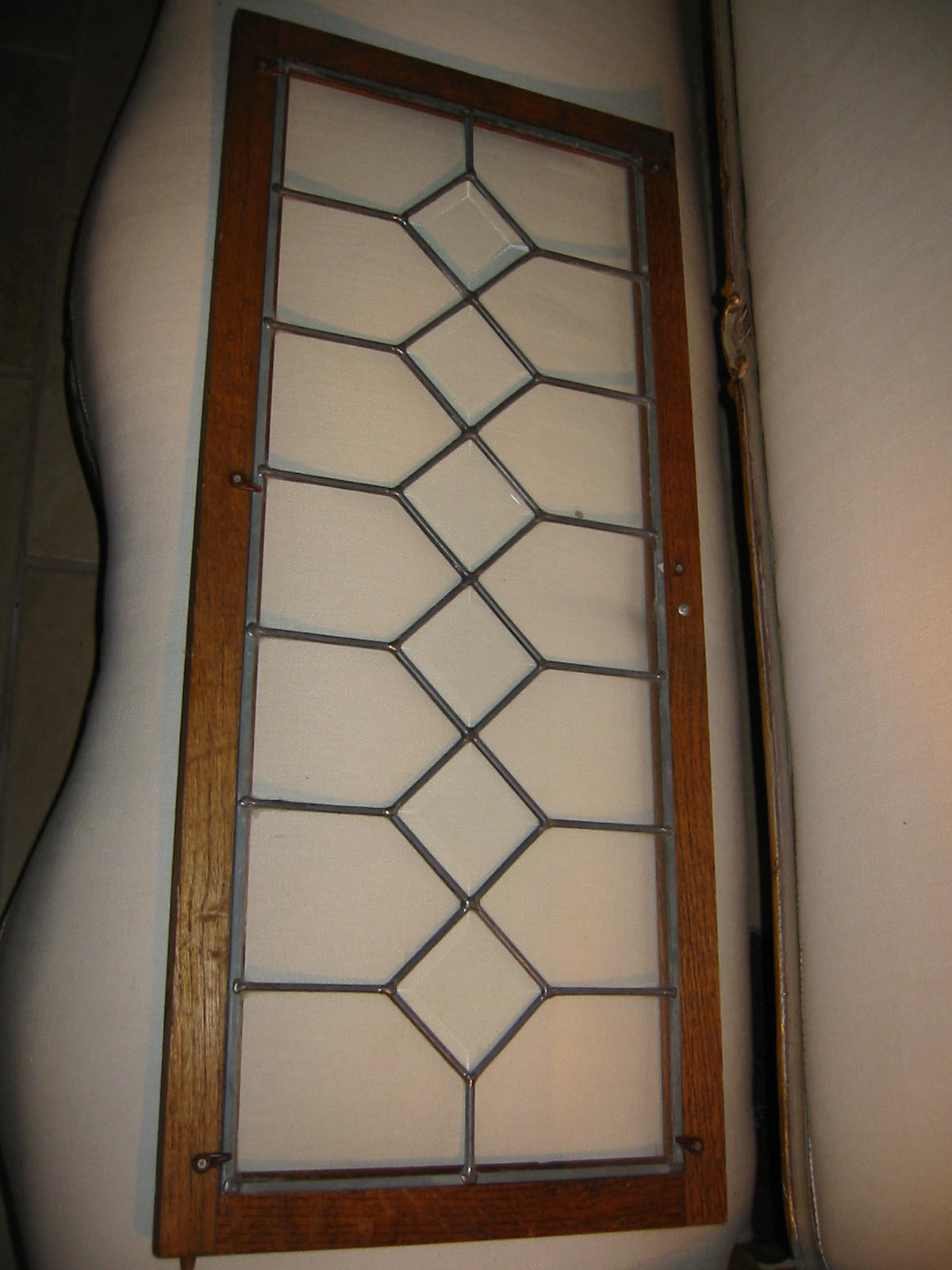 Stained glass beveled window wood panel for sale for Windows for sale