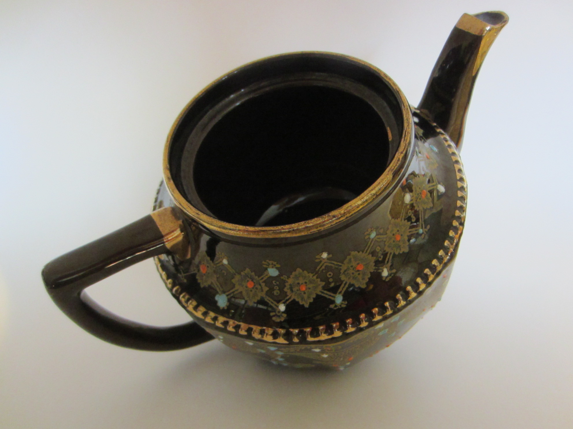 Luster Brown Ceramic Teapot Only For Decor With Idea Of Dried U0026 Or Fresh  Flowers And Leaves. Very Likely Made In Japan (occupied Timing) The Lid Is  No ...