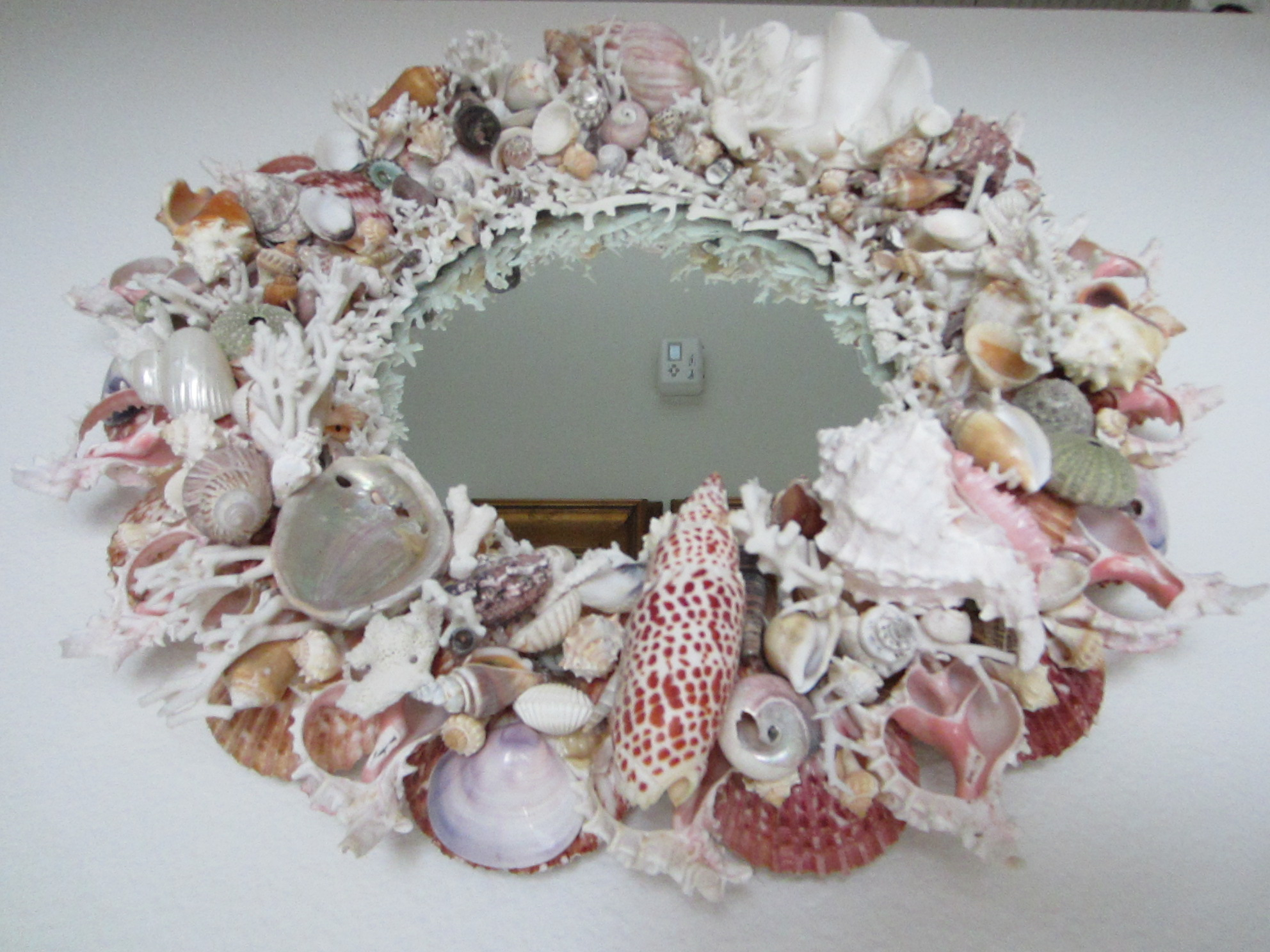 California modernist sea shell mirror for sale antiques for Mirrors for sale