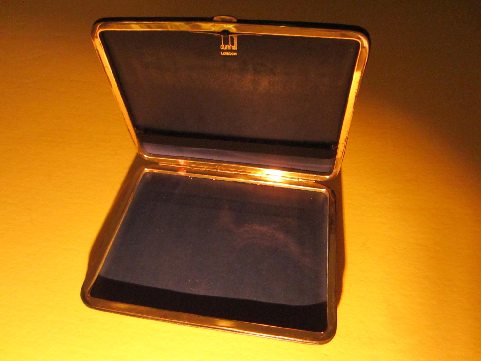 dunhill london black leather cigarette case card holder for sale