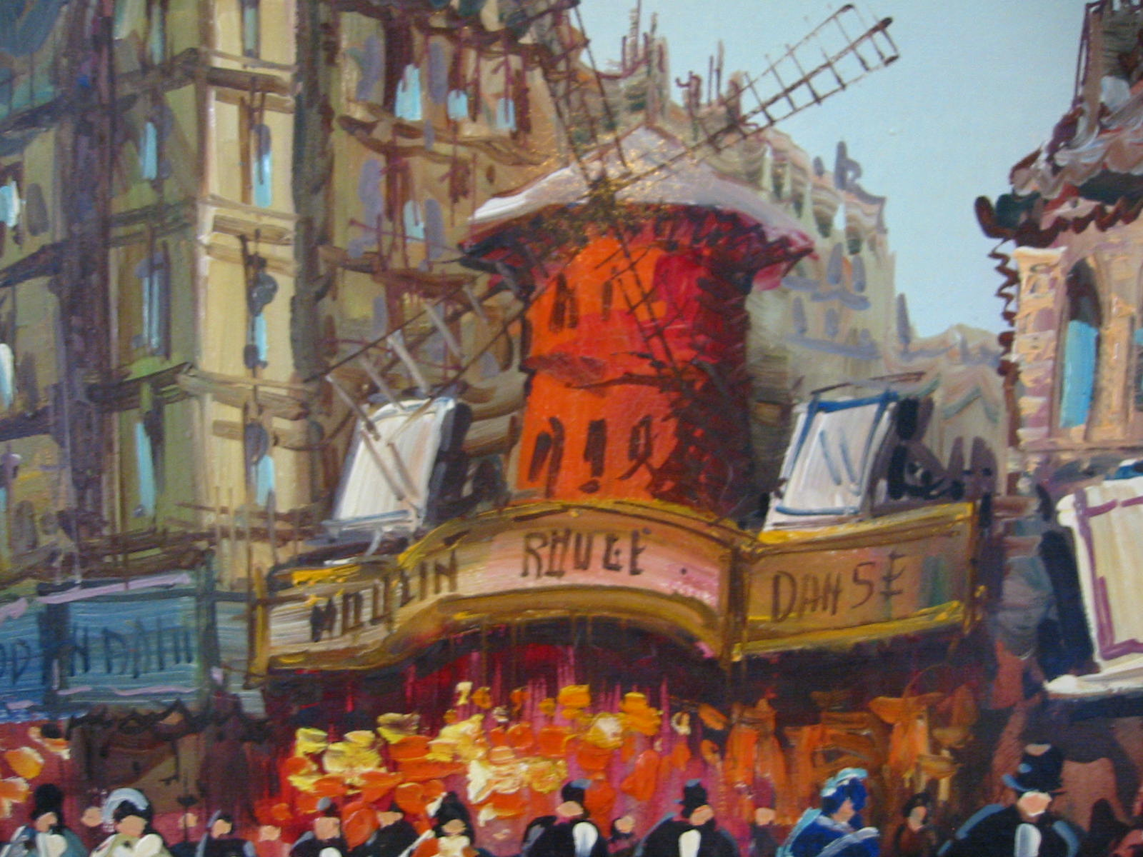 Perugino Moulin Rouge Paris Cityscape Oil On Canvas For