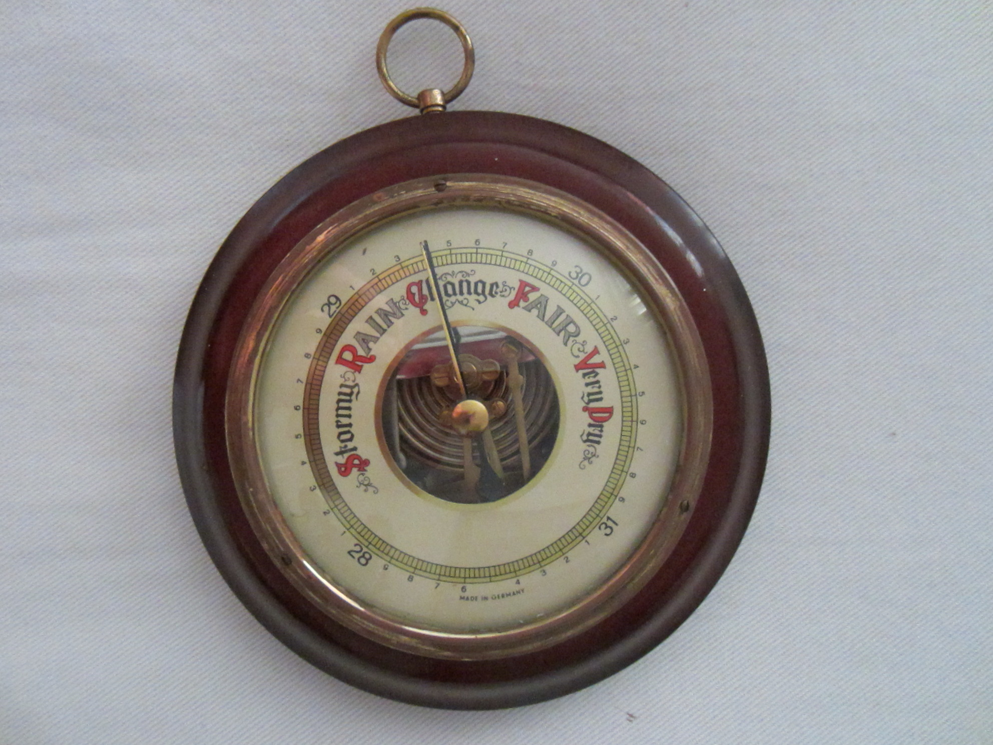 Mahogany Germany Brass Barometer For Sale | Antiques.com ...