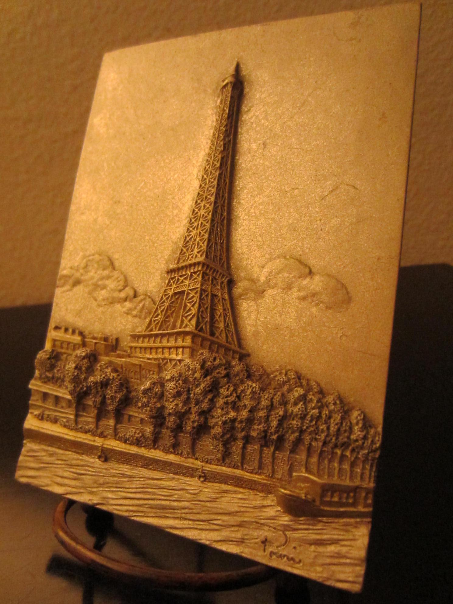 Paris signature paper mache eiffel tower for sale for Papier mache art for sale
